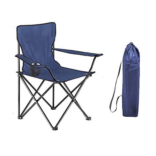 Confort Chaise de camping avec élastique Corde Suspension et appuie-tête à 150 kg noir