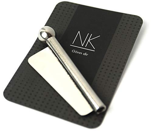 NKS Tube & Blade Sniffer, 1 Ziehröhrchen mit Klinge aus Edelstahl (Silber/Chrome)