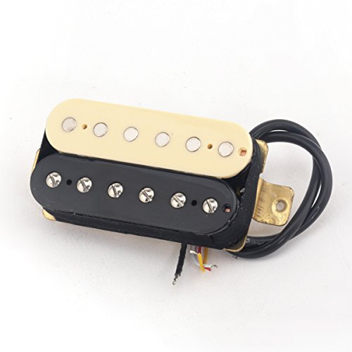 Musiclily Pro 52mm Humbucker Pickup Steg Tonabnehmer für E-Gitarre,Zebra