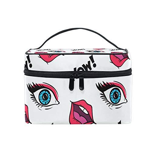 Lippt Kosmetiktasche mit lustigen Augen und Lippen, multifunktionaler Organizer für Frauen
