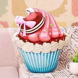 ZYYJG Almohada de simulación creativaTaza Rosa Pastel de Felpa Almohada Helado Frutas de Cerezo Galleta Cholocate corazón Rojo Pastel Relleno Comida Almohada Chica Dama decoración M Blue Cup Cookie