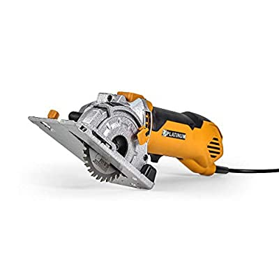Rotorazer Platinum Compact Circular Saw Set - Extra Powerful - Deeper Cuts! DIY Projects - Cut Drywall, Tile, Grout, Metal, Pipes, PVC, Plastic, and Copper. AS SEEN ON TV! from Rotorazer LLC