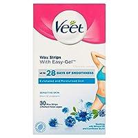 Veet - ワックスストリップ脇の下水着Easy-Gelwax敏感肌 - 15x2ストリップ