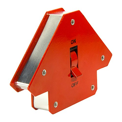First4magnets WM-S-1 Kleinen schaltbare Multiwinkel Schweißen Magnet, 13-30 kg, Paket 1, Metall, silber, 45 x 90 x 135 Grad
