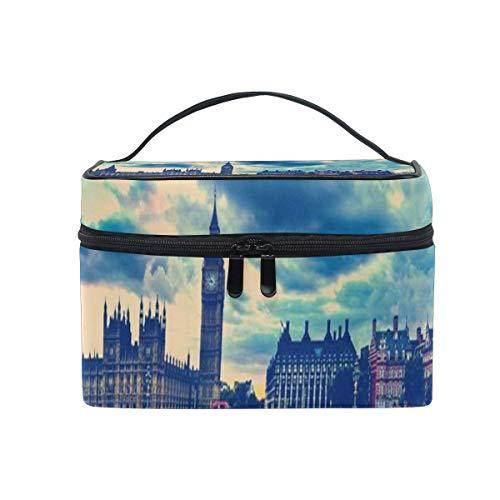 Trousse à maquillage Vintage London Big Ben Red Telephone House Street? Grand sac de toilette portable pour sac cosmétique pour femmes/filles