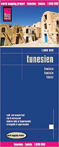 Reise Know-How Landkarte Tunesien (1:600.000) mit Djerba (1:300.000): world mapping project