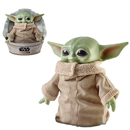 Star Wars The Mandalorian; The Child Baby Yoda 11' Plush Action Figure Toy with Accessories (3+)