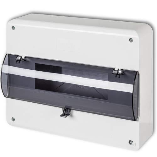 Kleinverteiler IP30 AP Aufputz Unterverteilung Sicherungskasten Verteilerkasten (12 Module)
