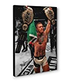 Conor McGregor UFC Champ Champ Canvas Print Poster Photo Wall Art (12x18in, Champ Champ)