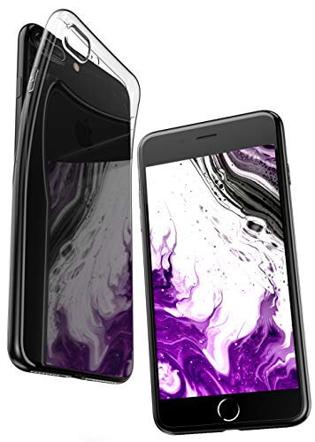 COVERbasics Funda iPhone 7 PLUS Funda iPhone 8 PLUS (AIRGEL) Carcasa iPhone 7 Plus Carcasa iPhone 8 Plus Silicona Transparente TPU Case protector ultra slim para Apple iPhone 7 Plus iPhone 8 Plus