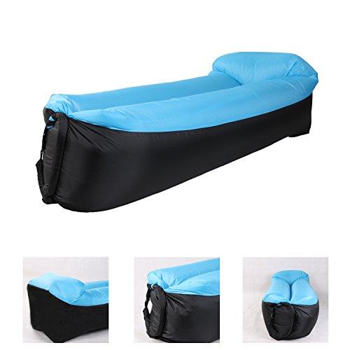 BOJON Aufblasbares Sofa, Wasserdichtes Sitzsack wasserdichtes air Lounger aufblasbare Couch Outdoor Sofa Luftcouch für Camping (Blau)