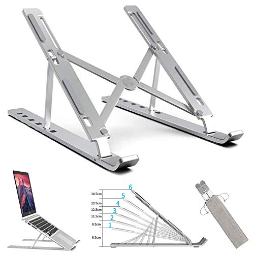 SiMin Laptop Stand Holder, Foldable Portable Ventilated Adjustable laptop stand with Carry Bag,support MacBook Pro/Air,HP,Lenovo,Sony,Dell and more 10-15,6 inch laptops,tablet