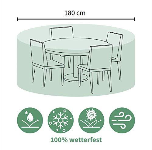 ACAMP Abdeckung für Outdoor Gartenmöbel oval 180 cm – schützt vor Wind, Regen und Sonneneinstrahlung – robuste Schutzhülle mit perfektem Sitz – schützt vor Wind, Regen und Sonneneinstrahlung – reißfeste Abdeckhaube