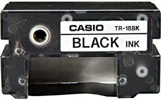 4 X Casio TR-18BK Ribbon (Black) for Casio Disc Title Printers