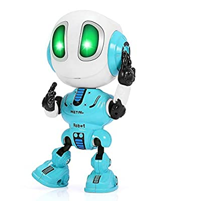 LET'S GO! Fun Toys for 3-12 Year Old Boys Girls,Cool Toys Talking Robot for Kids LED Colorful Eyes Educational Toys for Age 3-9 Sensory Toys for Autistic Xmas Stocking Stuffer Gifts for Age 4-10-Blue