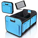 Car Trunk Organizer for SUV,Minivan,Truck - Hollowed Out Handles Adjustable Compartments Collapsible Portable Cargo,100% Waterproof Bottom (21x14.5x13 Inch)…
