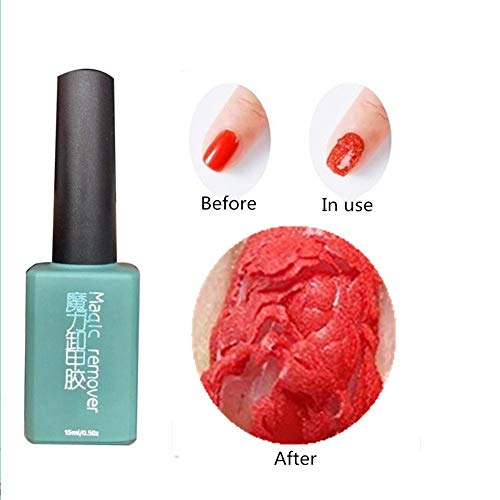 ARTIFUN Magic Soak Off Nail Polish Remover Gel, Easily and Quickly Remove Nail Polish Art Primer Coat Clean In 2-5 Minutes, 15 ml