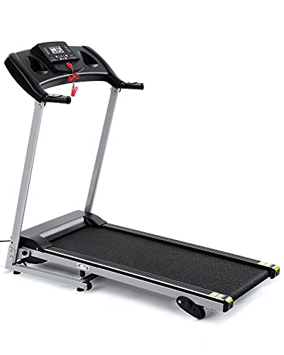 Folding Treadmill Running Machine 17' Wide Electric Treadmill 3 Levels Manual Incline 1.5 HP Power Easy Assembly for Home Use