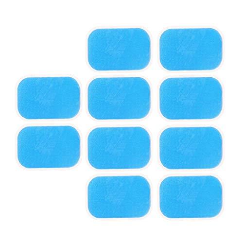 HomeDecTime 10x Adhesivas Almohadillas de Gel para Abdominales Trainer Almohadilla de Repuesto para Electroestimulación Entrenador Abdominal