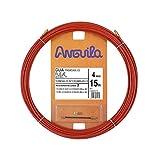 Anguila 20400015 Guía pasacables Fleje de Acero + Polipropileno, Rojo, 15 Metros
