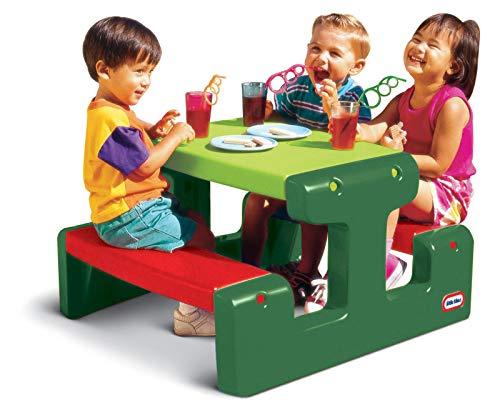 Little Tikes Table Pique-nique Junior peut accueillir jusqu'à 4 personnes - Pour les Devoirs, les Projets et les Jeux - Evergreen