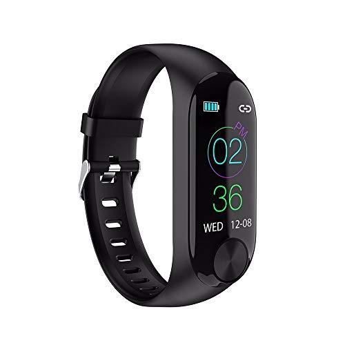 Smartwatch Unisex Miss Fortan Reloj Digital Deportes Fitness Actividad Reloj Mujer Hombre Impermeable Reloj de Pulsera, Grabar(podómetro, Quema de calorías, kilometraje) (Negro)