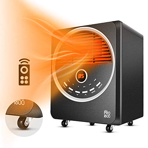 Space Heater-1500W Electric Heater With 3 Heating Modes,Tip-Over& Overheat Protection, Portable Heater with 4 Wheels, Adjustable Thermostat, Remote Control,Timer,Quiet Infrared Heater for Indoor Use Heater Infrared Space