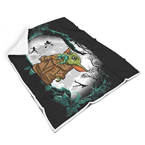 Chanpin Thermisch Bunt Plüschdecke für Sofa All Season Square Blankets für Alle Menschen Lässiger Stil White 130x150cm