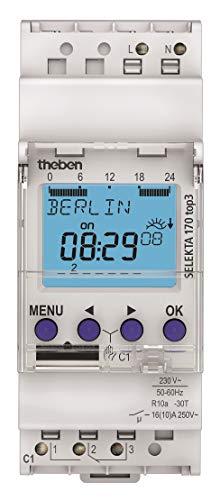 Theben 1700130 SELEKTA 170 top3-1-Kanal Astro-Zeitschaltuhr mit App-Programmierung, Zeitschalter