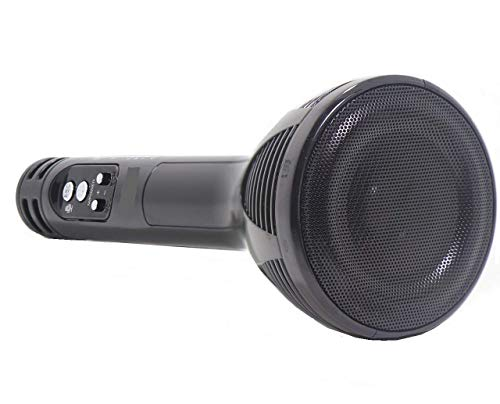 VRJTEC Design 2 Premium Quality Handheld Wireless Microphone Mic With Audio Recording Bluetooth Speaker & Karaoke Feature For All Tablets PCs iOS Android Smartphones (BLACK)