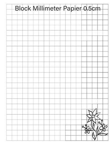 block millimeter papier 0.5cm: Die hohe Genauigkeit Ihrer Experimente ist mit diesem grafischen Papierblock gewährleistet ( Millimeter).| Block im großen Format. | ein wahres Geschenk.