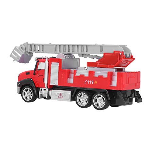 Cerlingwee Modelo de Coche de aleación, Modelo de camión de extinción de Incendios Aleación precisa y Exquisita con Juguete de camión de(Fire Ladder Truck)