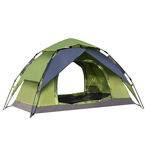 YXDEW Camping Tent,Double Layer Waterproof Dome Tent With Carry Bag 2 Person Beach Sun Shelters,Green camping (Color : Green)