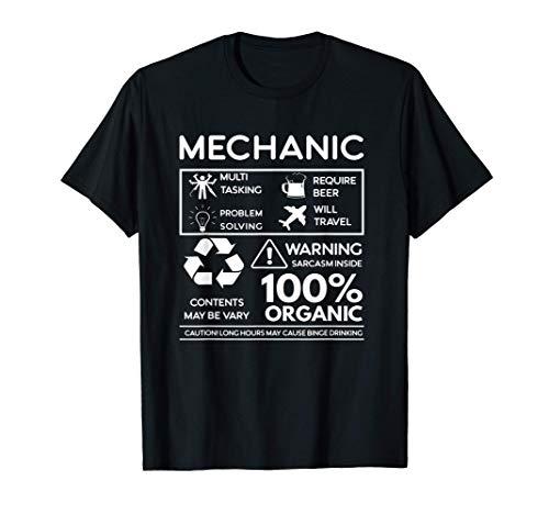 Regalo mecánico multitarea, requiere cerveza, viajará Camiseta