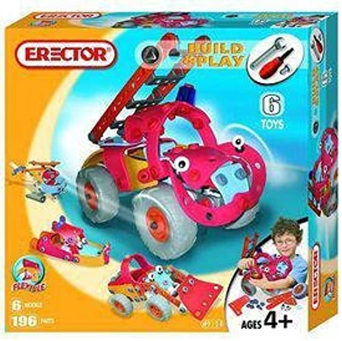 Erector Fire Truck - 6 Model Set by Erector