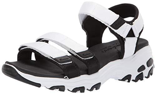 Skechers D'Lites Fresh Catch, Sandali con Cinturino alla Caviglia Donna, Bianco (White), 38 EU