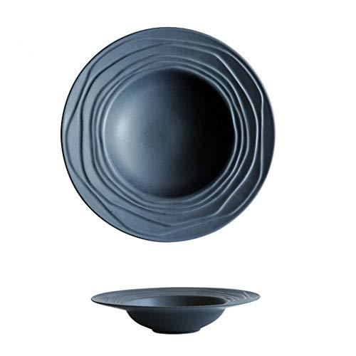 TJLSS Ensalada de Porcelana Cuencos, Sopa Bowl, Espiral Porcelana Pasta, Ensalada, Sopa Cuencos, porción Grande de Tazones (Color : A)