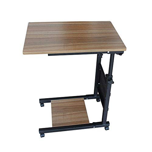 WSDSX Overbed Table with Castors, Adjustable Height and Angle Removable Laptop Desk Removable Computer Lazy Table for Living Room Sofa Adjustable Laptop Table (Color : B)