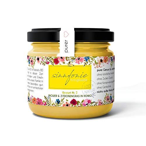 sinnfonie - fruit in honing - een smakelijk en fruitig natuurconcert (gember & citroengras in honing)