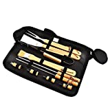 Homclo 10pcs BBQ Tool Set with Case Stainless Steel Barbecue Grilling Utensil for Dad Birthday Gift for Man