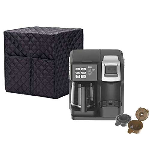 Coffee Maker Cover - Waterproof, Universal Fit - Fits Keurig K50 K400 K500 series, K-Classic, K-Elite, and Similar Brewing Systems (14.2x12.6x12.2 inch)