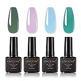 Manicures Set Glitter Nude UV Gel Set de Esmalte UV LED Gel Gel Gel Barniz Base Base Top Abrigo para el Conjunto de diseño de Arte de uñas (Color : H 54.59.63.64)
