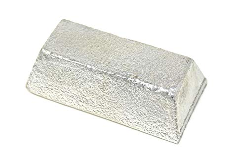 Pewter Ingot 97LF Fine Detail Pewter (2lbs | 97% Tin 2.5% Bismuth .5% Copper) Lead Free by MS MetalShipper