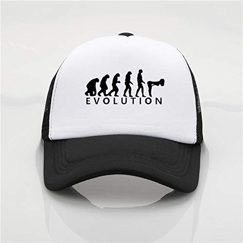 Baseball Kappe Evolution of Human Sex Love Gifts Print Sun Hats Summer Mesh Baseball Hats Couple Fashion Hip Hop Hat Darkgrey