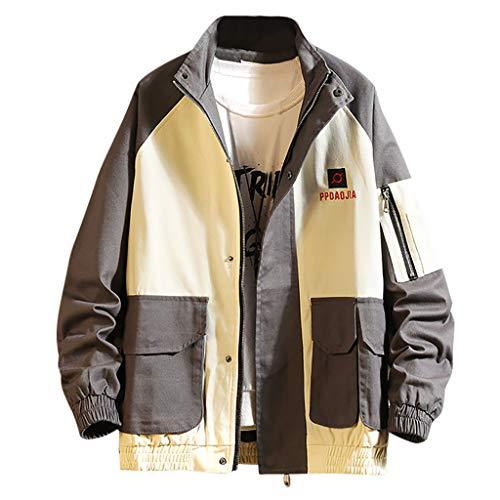 Briskorry Mode jacken Herren japanisch Multi-Pocket Revers-Mantel Mode Einfach Golf ski lauf Winterjacke Herren Sale Freizeit Lose Baseball jacken Outwear Coat
