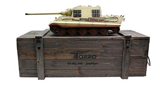 TORRO 1112200783 - RC Jagdtiger BB Wüstentarn 1/16, Panzer