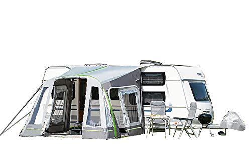dwt Teilzelt Junior Air 320x290 cm Camping Wohnwagen Vorzelt aufblasbar Air-In Doppelhubpumpe Ultraleicht Tunnelzelt