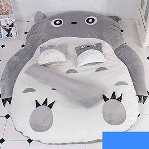 ZRSHBBAD Totoro Colchón de Tatami Plegable Totoro Colchoneta para Cama Espesar Tatami Colchoneta Ideal para Dormitorio o Dormitorio, Colchón Totoro Individual Doble Tatami,002,170 * 200