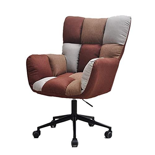 Silla de escritorio con ruedas Silla de oficina en casa, silla para juegos, silla de escritorio, silla para computadora, silla giratoria, cojín grueso flexible para mujeres y adultos para silla de