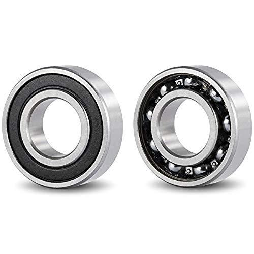 DOJA Industrial |Rodamiento de Bolas 6007 2RS C3 | Pack de 2 Unidades de cojinetes para Eje de 35mm | Exterior de 62 mm | Ancho de 14mm |Útiles para: Fresadora, Impresora 3D, Torno, Bricolaje, Skate.